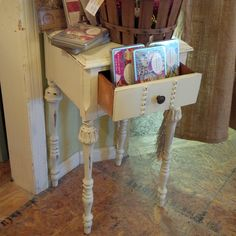Adorable Shabby Chic End Table