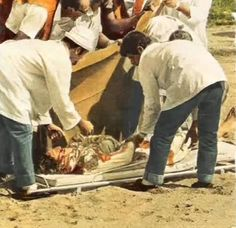 Jochen Rindt's fatal accident during practice for the Italian GP, Monza, Sept. 1970.