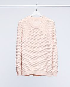 Soft, long-sleeved, textured-knit sweater. | H&M Winter Fashion