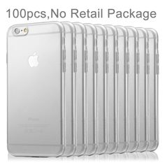 [$31.47] 100 PCS HAWEEL for iPhone 6 & 6s 0.3mm Ultra Slim Zero Series Transparent TPU Protective Case, No Retail Package(Transparent)