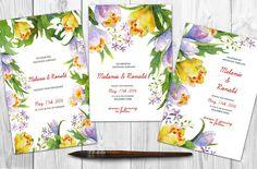Watercolor DIY floral graphics set by Digital art shop on Creative Market