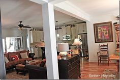 living room columns and beam - Google Search