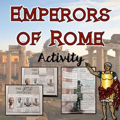 """This is a FUN and ENGAGING activity that takes a close look at the more """"famous/infamous"""" Roman Emperors!Here are some other products you may enjoy:Ancient Rome-Resource BundleAre We Rome?  A Project Based Learning Activity {NO PREP}Fall of Rome Activity Check out my Mesopotamia Interactive Notebook  and Notebook and Bundle Set too!Interactive Notebook-Ancient RomeInteractive Notebook-Ancient Rome AND Resource…"""