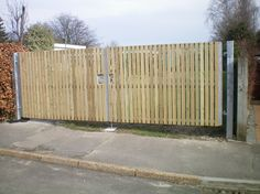 Timber Palisade Gate With Steel Frame
