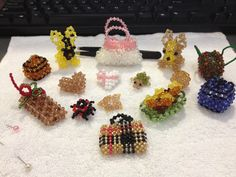 miniature world #3D beading #beads #animals #mini bags #hearts #ball