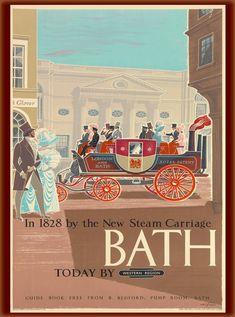 Bath - Today by Western Region - British Railways - 1960 - (Eric Fraser) Disney Pumpkin Carving, Great Britain United Kingdom, Bath Travel, Bottle Cap Table, Movie Decor, Books For Teens, Teen Books, Disney Tangled, Advertising Poster