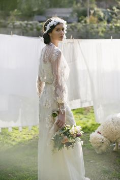 : Claire Pettibone 'Peace' wedding gown :