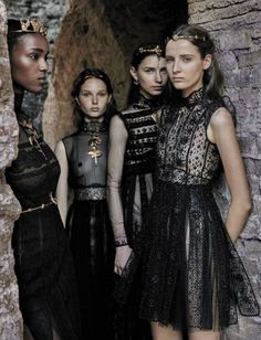 Valentino Haute Couture - Vogue Italia September 2015 (@ hellyeahblackmodels on tumblr)