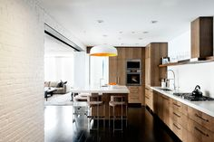 Laight Street Loft Contemporary,  Kitchen DHD Architecture & Interior Design