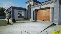 3 Bedroom House Plans – My Building Plans South Africa Floor Plan 4 Bedroom, Three Bedroom House Plan, Bedroom House Plans, My Building, Building Plans, African House, House Plans And More, Flat Roof, Home Pictures