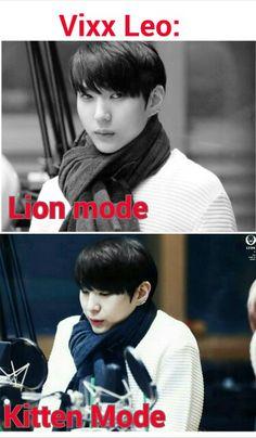 Hahhaha love him in both modes!! #VIXX #Leo