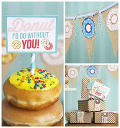Donut Party + Free Printables via Kara's Party Ideas | The place for all of your party needs! KarasPartyIdeas.com (1)