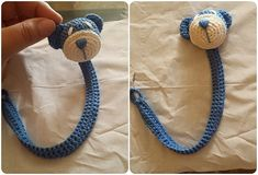 Orsetto Fermaciuccio a uncinetto Spiegazioni in italiano Crochet Pacifier Holder, Make An Effort, Baby Toys, Crochet Baby, Crochet Necklace, Gifts, Amigurumi, Pacifiers, Yarns