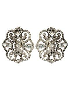 Crystal Vintage Deco Earrings - Ben Amun @ GetThis.tv $195