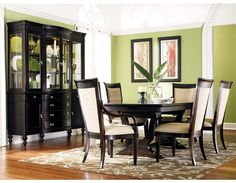 Dining room with a tropical feel.