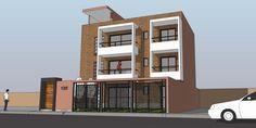 Vivienda multifamiliar de tres pisos en terreno de 11 x 16 m. (176 m2) diseñada para Oniria Arquitectura en la ciudad de Pisco. Cuenta co...