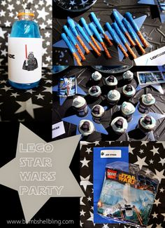 This Star Wars Lego party is AMAZING! Little boy HEAVEN!