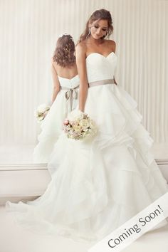 Green Bay, WI ---- Make your appointment today to see this dress (920) 626.1920 Style #D1672 Wedding Dresses - A-Line Wedding Dress from Essense of Australia Style D1672