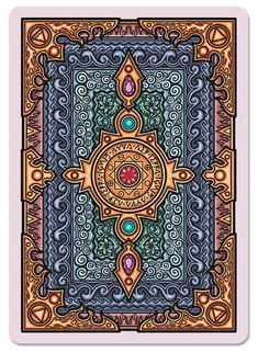 Grimoire Playing Cards Elemental Magick - Back Playing Cards Art, Custom Playing Cards, Custom Cards, Bicycle Cards, Yearbook Covers, Collector Cards, Deck Of Cards, Card Deck, Bookbinding