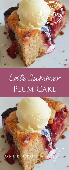 Plum cake- This was tasty and easy! Quartered the plums and although they seemed large it was fine. Did go moldy so maybe keep in fridge. 10/7/17