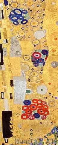 Gustav Klimt - Detail of The Kiss, 1907-08