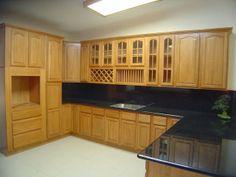 Kitchen Designs: Natural Oak Kitchen Cabinets Pictures Black Marble  Countertop, All Modern Wooden Image Villas, Best Villa, ~ STEPINIT
