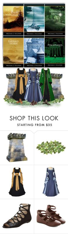 """The Riyria Revelations"" by savagedamsel ❤ liked on Polyvore featuring moda, Kim Seybert, MICHAEL Michael Kors, Jeffrey Campbell, fantasy, books, medieval y riyria"