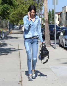 Kendall def knows how to rock the denim-on-denim look many are hesitant to try. She makes it look so easy!