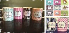Personalized Mugs - 9 Designs! 29 Colors! Great For Christmas! at VeryJane.com