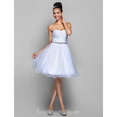 1db5ca42277 Australia Cocktail Party Dresses Prom Gowns Holiday Dress White Plus Sizes  Dresses Petite A-line Princess Sweetheart Short Knee-length Organza