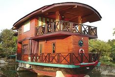 "houseboat! My dream vacation is to travel the length of the NYS Barge Canal. My age tells me ""not going to happen."""