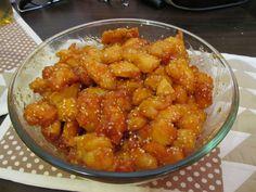 Kínai ételek kedvelőinek,a tökéletes szezámmagos csirke házilag Meat Recipes, Chicken Recipes, Chinese Food, Chinese Recipes, Wok, Chicken Wings, Shrimp, Bacon, Curry