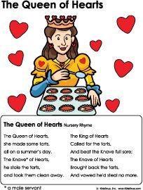 Hearts Nursery Rhyme And Activities