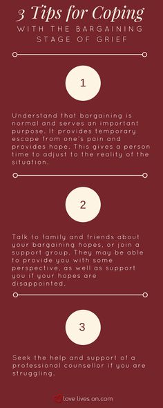 Infographic: 3 Tips for Coping with the Bargaining Stage of Grief