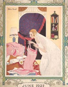 Tumblr  Cover art illustration by Helen Grant for the June 1927 issue of Needlecraft magazine