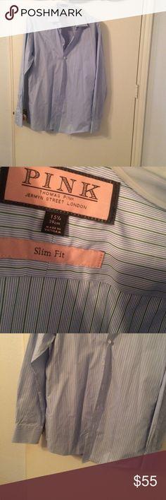 Men's Thomas Pink Dress Shirt New 151/2 Thomas Pink Shirts Dress Shirts