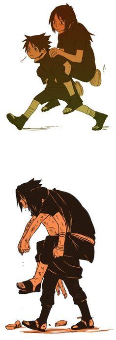 Sasuke and Itachi :'( Anime Naruto, Hinata, Sasuke Und Itachi, Naruto Comic, Naruto Cute, Naruto Shippuden Anime, Sakura And Sasuke, Otaku Anime, Manga Anime