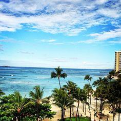 Waikīkī Beach ve městě Honolulu, HI