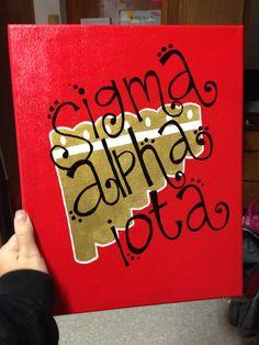 Sigma Alpha Iota canvas for my little