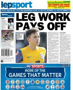 Lancashire Evening Post back page 25/07/14
