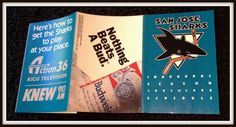 1991-92 SAN JOSE SHARKS BUDWEISER BEER INAUGURAL HOCKEY POCKET SCHEDULE  #Pocket