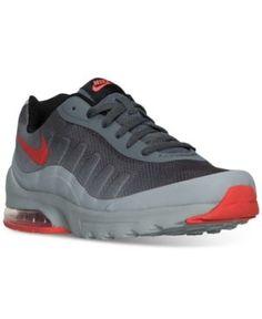 Men'S Air Max Invigor Print Running Sneakers From Finish Line, Dk Grey/Max  Orange-Wolf G