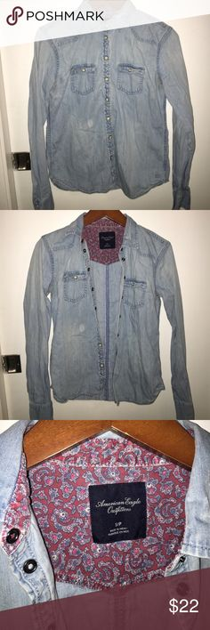 American Eagle Jean Jacket American Eagle Jean Jacket. Very comfy and light. In very good condition. American Eagle Outfitters Jackets & Coats Jean Jackets