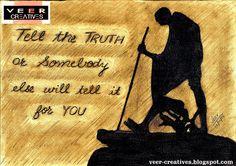 vEEr Creatives: Mahatma Gandhi - Truth