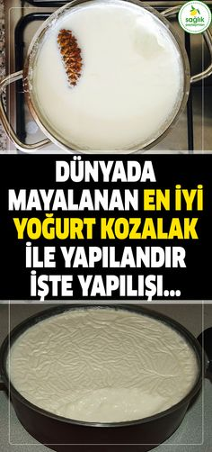 The best fermented yoghurt in the world with the raw conifer . Easy Homemade Biscuits, Good Food, Yummy Food, Recipe Mix, Breakfast Items, Turkish Recipes, Healthy Snacks For Kids, Kefir, Perfect Food
