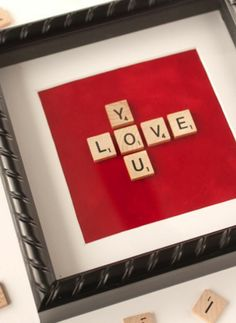 DIY Heart Crafts Ideas - Scrabble Art - Click Pic for 37 Homemade Valentine Decorations