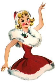 Retro+Christmas+lady.jpg 1,015×1,500 pixels