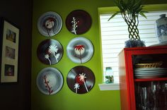 Love the idea of painting old records! I think the textured look it has and it can be easily done.