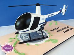 3D Robinson R22 Helicopter Cake