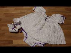 69 super Ideas for crochet dress kids diaper covers Crochet Toddler Dress, Crochet Baby Boots, Crochet Bebe, Crochet For Kids, Crochet Clothes, Baby Dress Tutorials, Baby Dress Patterns, Crochet Stitches Free, Crochet Patterns
